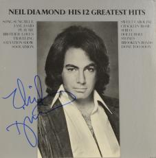 Neil Diamond Autographed Neil Diamond/His 12 Greatest Hits Album - PSA/DNA COA