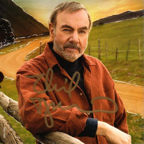 Neil Diamond Autographed Signed Melody Road CD Cover AFTAL