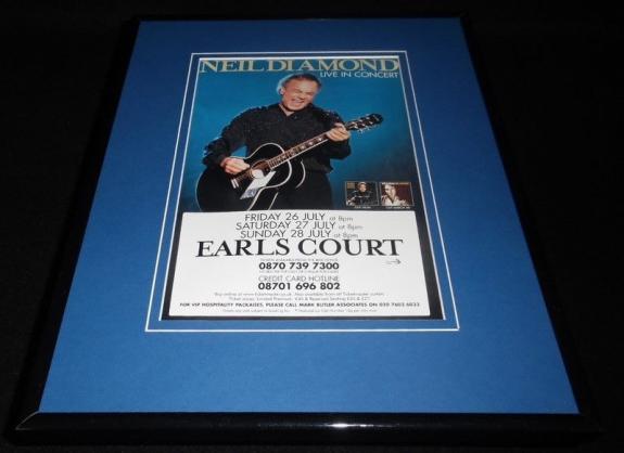 Neil Diamond Earls Court 2002 Concert Framed 11x14 Repro Poster Display