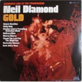 Neil Diamond Gold Autographed Signed Album LP Record Certified Authentic JSA COA