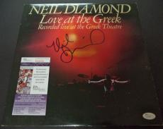 Neil Diamond Music Legend Signed Autograph Love At The Greek Album Cover Jsa Coa