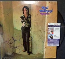 """Neil Diamond Music Legend Signed Autograph """"rainbow"""" Album Cover Jsa Coa #p89168"""