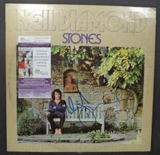"""Neil Diamond Music Legend Signed Autograph """"stones"""" Album Cover Jsa Coa #q32016"""
