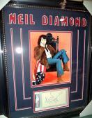 Neil Diamond Music Legend Signed Autographed Double Matted & Framed Psa/dna Coa
