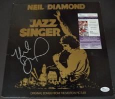 "Neil Diamond Music Legend Signed Autographed ""jazz Singer"" Album Cover Jsa Coa"