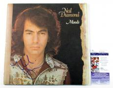 Neil Diamond Signed LP Record Album Moods w/ JSA AUTO
