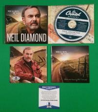 Neil Diamond Signed Melody Road Cd +9 Real Photos Bas Beckett Authenticated Coa