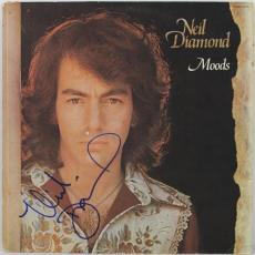 Neil Diamond Signed Moods Album Cover Autographed PSA/DNA #L40297