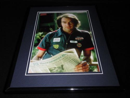 Neil Diamond wearing gas station shirt Framed 11x14 Photo Display