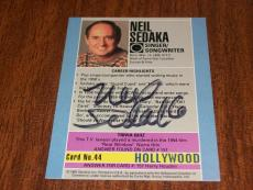 Neil Sedaka Signed Auto 1991 Starline Hollywood Walk of Fame Card #44  TOUGH  K