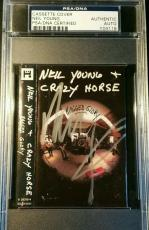 Neil Young & Crazy Horse Ragged Glory Signed Tape Cover PSA/DNA AUTOGRAPHED