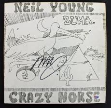 Neil Young Crazy Horse Signed 'Zuma' Album Cover PSA/DNA #AB81059