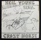 Neil Young Crazy Horse Signed 'Zuma' Album Cover PSA/DNA #AB81059
