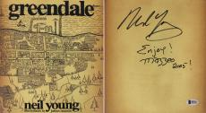 """Neil Young """"Enjoy! Mazzeo 2005!"""" Signed 1st Edition Greendale Book BAS #B51615"""