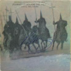 Neil Young Journey Through The Past Signed Album Cover Psa/dna #x11055