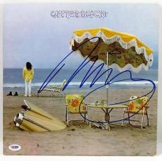Neil Young On The Beach Signed Album Cover Autographed Psa/dna #x31261