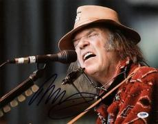 Neil Young Signed 11x14 Photo Autographed Psa/dna #x31216