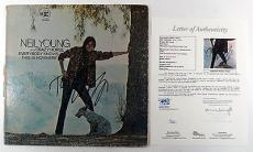 Neil Young Signed Album Cover Only Everybody Knows This is Nowhere w/ JSA AUTO