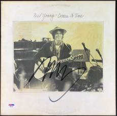 Neil Young Signed Autographed Comes A Time Record Album Csny Psa/dna Coa Ab43392
