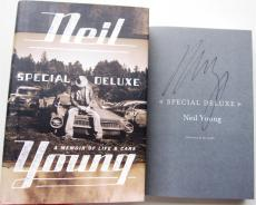 Neil Young signed book Special Deluxe 1st Print Beckett BAS Authentic auto CSNY