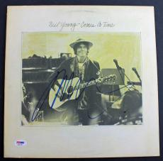 Neil Young Signed 'Comes A Time' Album Cover PSA/DNA #AB81548