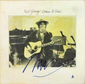 Neil Young Signed Comes A Time Album Cover W/ Vinyl Autographed BAS #B03502