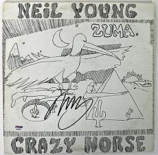 Neil Young Signed Crazy Horse Album Cover Autographed PSA/DNA #AB43084