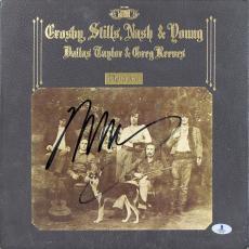 Neil Young Signed Deja Vu Album Cover W/ Vinyl Autographed BAS #B03501