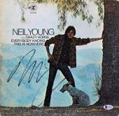 Neil Young Signed Everybody Knows This Is Nowhere Album Cover W/ Vinyl BAS