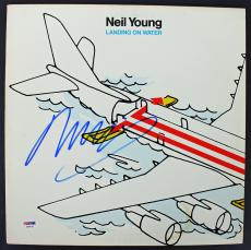 Neil Young Signed Landing On Water Album Cover PSA/DNA #AA84129