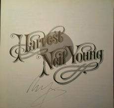 Neil Young Signed LP Insert Harvest Moon AUTHENTIC AUTOGRAPH PSA/DNA LOA