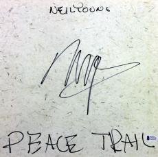 Neil Young Signed Peace Trail Album Cover W/ Vinyl Autographed BAS #C37520