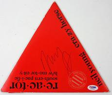 Neil Young Signed Reactor Unique Triangular Record Album  Psa/dna #x39001