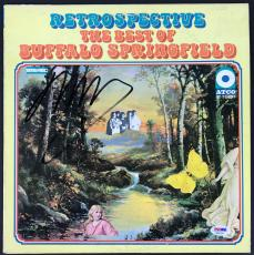 Neil Young Signed Retrospective Buffalo Springfield Record Album Psa/dna Ab81168
