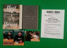 Neil Young Signed Special Deluxe 1st Ed Hardcover Book With Photo Proof Bas Coa