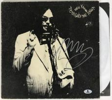 Neil Young Signed Tonights The Night Record Album  Csny Beckett Bas Coa #b13303