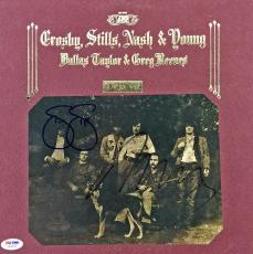 Neil Young & Stephen Stills Signed Deja Vu Album Cover Csny Psa/dna #w04899
