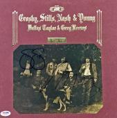Neil Young & Stephen Stills Signed Deja Vu Album Cover Csny Psa/dna #w04899