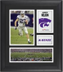 """Jordy Nelson Kansas State Wildcats Framed 15"""" x 17"""" Collage"""