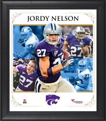 "Jordy Nelson Kansas State Wildcats Framed 15"" x 17"" Core Composite Photograph"