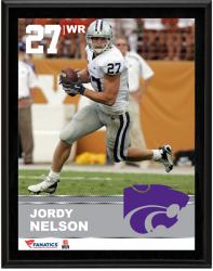 Jordy Nelson Kansas State Wildcats Sublimated 10.5'' x 13'' Plaque - Mounted Memories