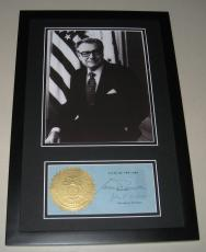 Nelson Rockefeller & John Lomenzo Facsimile Signed Framed 11x17 Photo Display