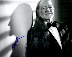 Willie Nelson Autographed 11'' x 14'' Bow Tie Smiling Photograph