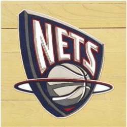 """NBA New Jersey Nets 12"""" x 12"""" Logo Floor Piece"""