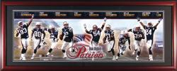 New England Patriots Framed Unsigned Panoramic Photograph - Mounted Memories
