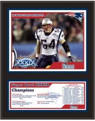 New England Patriots 12'' x 15'' Sublimated Plaque - Super Bowl XXXIX - Mounted Memories