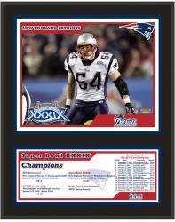 "New England Patriots 12"" x 15"" Sublimated Plaque - Super Bowl XXXIX"
