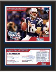"New England Patriots 12"" x 15"" Sublimated Plaque - Super Bowl XXXVI"