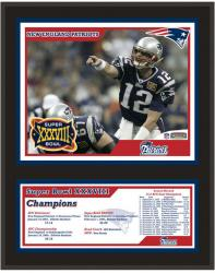 New England Patriots 12'' x 15'' Sublimated Plaque - Super Bowl XXXVIII - Mounted Memories