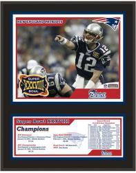 "New England Patriots 12"" x 15"" Sublimated Plaque - Super Bowl XXXVIII"